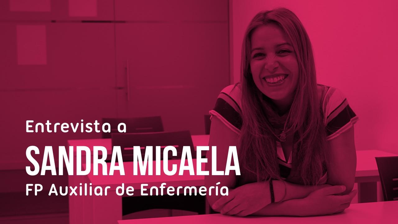 Entrevista alumna Sandra Auxiliar de Enfermería